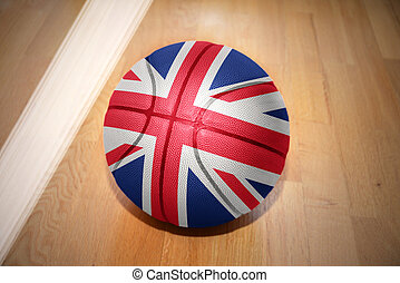 basketball ball with the national flag of great britain...