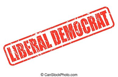 LIBERAL DEMOCRAT red stamp text on white
