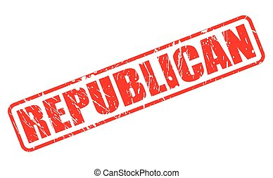 REPUBLICAN red stamp text on white