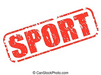 SPORT red stamp text