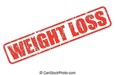 WEIGHT LOSS red stamp text on white