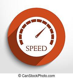 Vector speedometer web icon.
