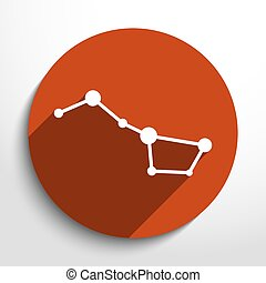 Vector constellation the Great Bear web icon.