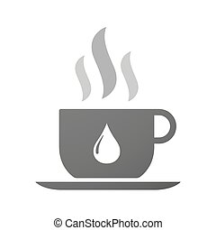 Cup of coffee icon  with a fuel drop