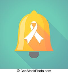 Bell icon with an awareness ribbon