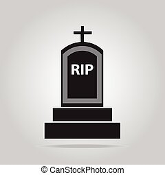 Grave for Halloween symbol, vector illustration