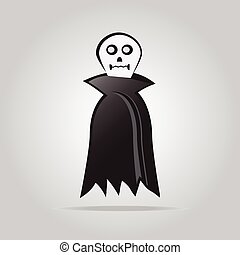 Ghost for halloween symbol vector illustration
