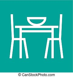 Dining Table I - Table, setting, christmas icon vector...