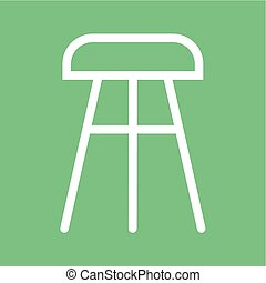 Stool, chair, wooden icon vector image.Can also be used for...