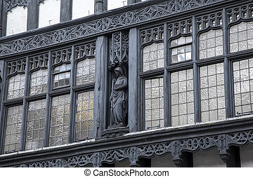 Traditional Facade in Chester, England, UK