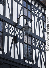 Traditional Facade in Chester, England