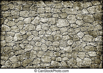 Old stone wall grunge background