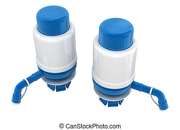 water pump isolated over white 3d model