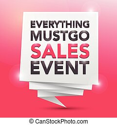 EVERYTHING MUST GO SALES EVENT, poster design element