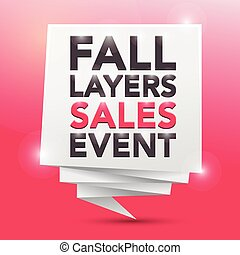 FALL LAYERS SALES EVENT, poster design element