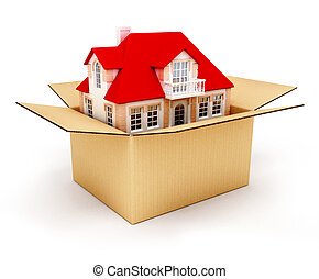 New house in box - New house in the box real estate...