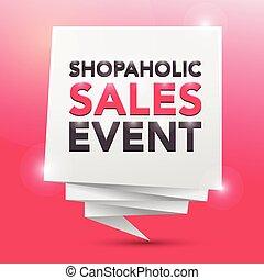 SHOPAHOLIC SALES EVENT, poster design element