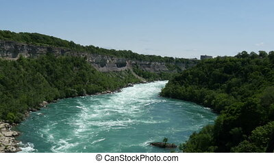niagara river view from aero car - niagara river view from...