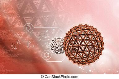 Gene  - Digital illustration of gene in color background