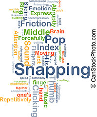 Snapping background concept - Background concept wordcloud...