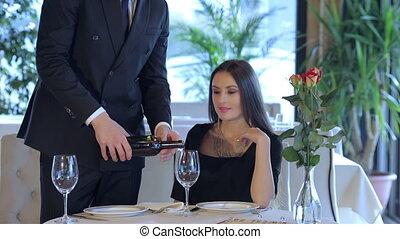 Romantic dinner in the restaurant