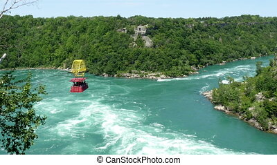 niagara aero car riding over niagara whirlpool