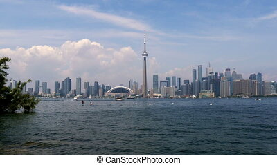 toronto skyline view from toronto island