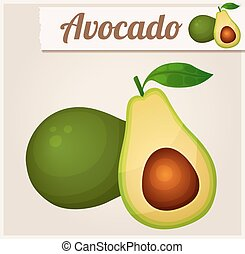 Avocado. Detailed Vector Icon. Series of food and drink and...
