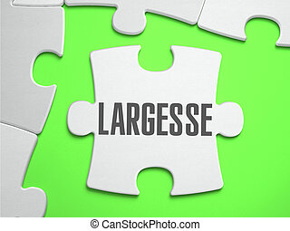 Largesse - Jigsaw Puzzle with Missing Pieces. Bright Green...
