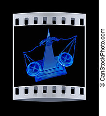 scales of justice. The film strip