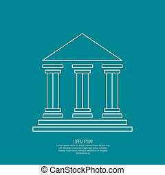 Abstract background with ancient building with columns and...