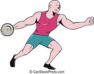Discus thrower Vector Clipart EPS Images. 257 Discus ...