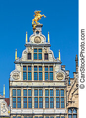 Ancient guild house in Antwerp center, Belgium - Ancient...