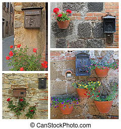 beautiful old fashion letterbox images from Italy
