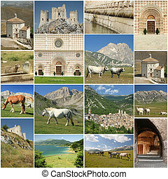 images of Abruzzo region in central Italy