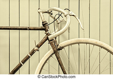 Retro styled image of a racing bicycle - Retro styled image...