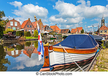 Classic sloop in Hindeloopen, The Netherlands - Classic...