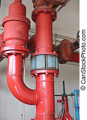 Water pipe system. - Water pipe system in the factory...