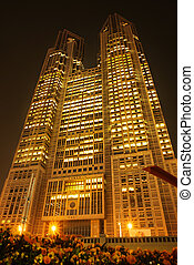 Tokyo Metropolitan Government building. The building is...