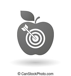 Apple icon with a dart board - Illustration of an isolated...