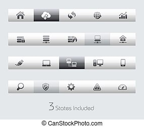Developer - Toolbars - The Vector file includes 3 buttons...