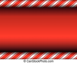 Christmas Candy Cane Red Background - A red and white candy...