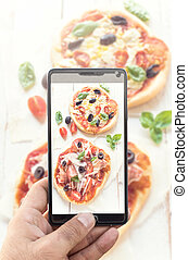 mini, pizza, ,
