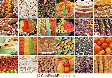italian sweets collage