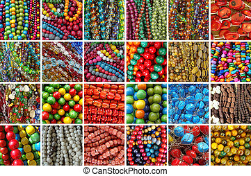 assortment of beads bijou - collage