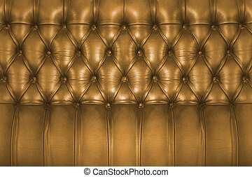 Backboard of a vintage chesterfield sofa