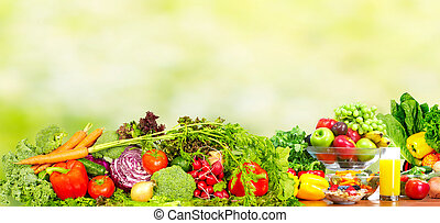 Fresh vegetables and fruits.