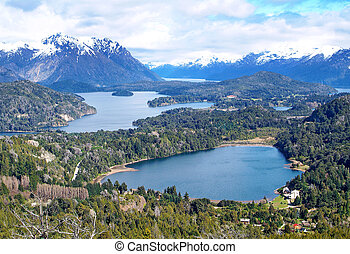 Lake Nahuel Huapi, Argentina (from - View on the lake Nahuel...
