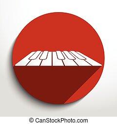 鑰匙, 网, 鋼琴, 矢量, 圖象