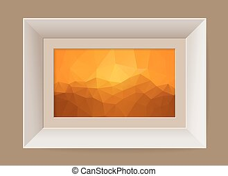 Picture frame with abstract mountain landscape